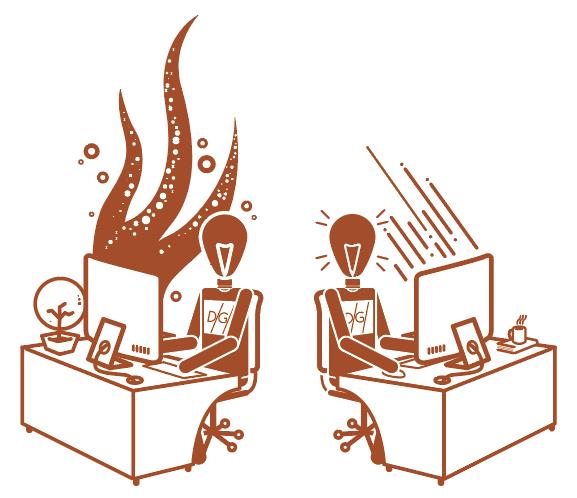 Digital Glue illustrated staff