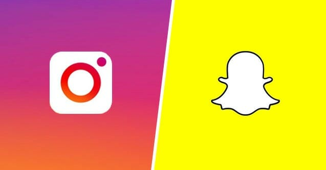 Image result for instagram vs snapchat